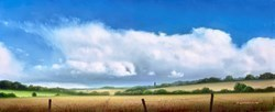 Big Sky by John Waterhouse - Oil sized 12x5 inches. Available from Whitewall Galleries